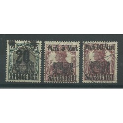 1921 GERMANIA OCCUPAZIONI SARRE - SAAR VALORI DI GERMANIA SOPRAST. 3 V USATI MF27694