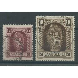 1925 GERMANIA OCCUPAZIONI SARRE - SAAR MADONNA CON BAMBINO 2 V USATI MF27693