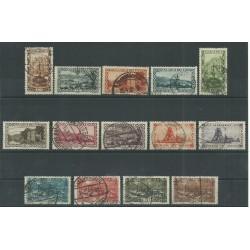 1921 GERMANIA OCCUPAZIONI SARRE - SAAR VEDUTE 14 V USATI MF27697
