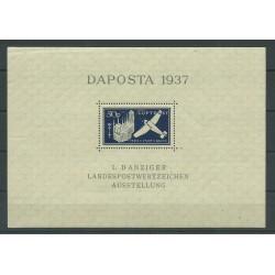 1937 GERMANIA OCCUPAZIONI DANZICA - EXPO DAPOSTA 1937 MNH UNI. n. BF 2 MF27700