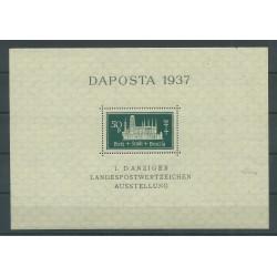 1937 GERMANIA OCCUPAZIONI DANZICA - EXPO DAPOSTA 1937 MNH UNI. n. BF 1 MF27702
