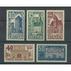 1936 GERMANIA OCCUPAZIONI DANZICA - SOCCORSO INVERNALE 5 V MNH MF27705