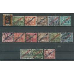 1922 GERMANIA OCCUPAZIONI SARRE - SAAR SEGNATASSE DIENSTMARKE 15 V USATI MF27707