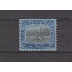 ST KITTS NEVIS 1923   GIORGIO GEORGE V  100 COLONIA  1VAL MLH MF54544