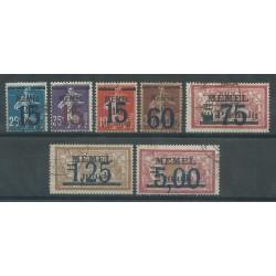 1921 / 22 GERMANIA OCCUPAZIONI MEMEL EMISSIONI DI FRANCIA SOPRAST. 7 V. USATI MF27735