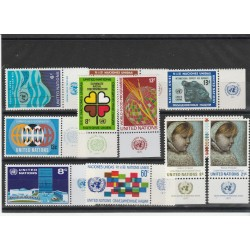 1955 ONU NY ANNATA COMPLETA 1972 - 12 VAL  CON APPENDICE MF54543