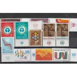 1972 ONU NY ANNATA COMPLETA 12 VAL  CON APPENDICE MF54543