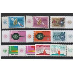 1973 ONU NY ANNATA COMPLETA 10 VAL  CON APPENDICE MF54548