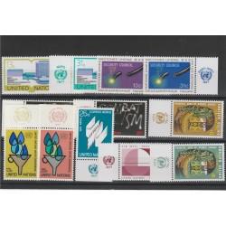 1977  ONU NY ANNATA COMPLETA 12 VAL  CON APPENDICE MF54096