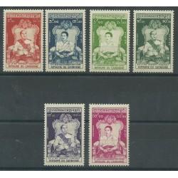 1956 CAMBOGIA ROYAME DU CAMBODGE INCORONAZIONE 6 V.  MNH MF27744