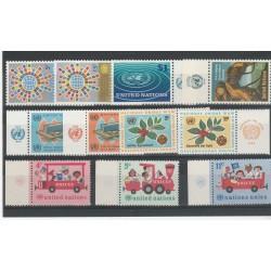 1966 ONU NY ANNATA COMPLETA 11 VAL  CON APPENDICE MF54532