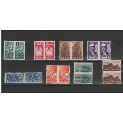 SOUTH AFRICA 1942-43  SOGGETTI VARI  8 VAL IN COPPIA  MLH  MF54521