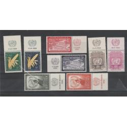 1954 ONU  ANNATA COMPLETA  1954  - 8 v CON APPENDICE MF54518