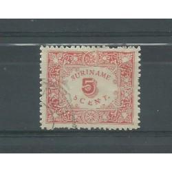SURINAME 1909 ALLEGORIA 1 VAL USATO YV. 59 MF27774