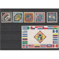 1960 COSTA RICA CONFERENZA PANAMERICANA 5 VAL + 1 BF MNH  MF54598