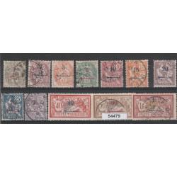MASROCCO  1911-17 YVERT 25/36  12 VAL USATI MF54479