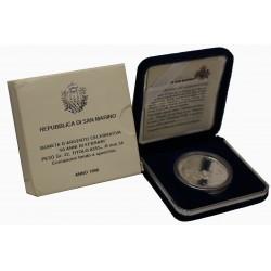 1998 SAN MARINO 50 ANNI DI FERRARI LIRE 10.000 PROOF FS ARGENTO MF9634