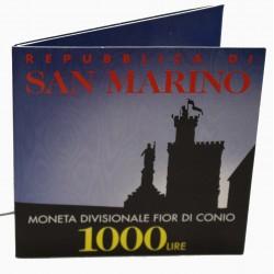 1997 SAN MARINO LIRE 1000 BIMETALLICA IN CONFEZIONE ORIGINALE FDC MF27790