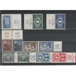 1952/53  ONU  ANNATE COMPLETE 11 V  CON  APPENDICE MF54581
