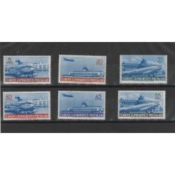 1954 TURCHIA TURKIYE  AEREI AEREOPORTI  6  VAL UNIF 28/33  MNH  MF54650