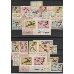 BURUNDI  1964 OLIMPIADI TOKIO  20 VAL+ 2 BF  MNH MF54567