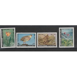 1939 AFGHANISTAN AFGHANES FAUNA UCCELLI 4 VAL MNH MF54561
