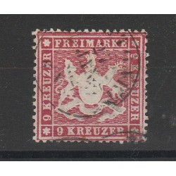 1860 GERMANIA ANTICHI STATI WURTTEMBERG  STEMMA 9 KR  USATO MF54646