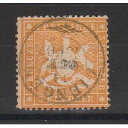 1860 GERMANIA ANTICHI STATI WURTTEMBERG  STEMMA 3 KR  USATO MF54653