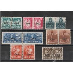 SOUTH AFRICA 1941-43  EMISSIONE SOPRASTAMPATA  SWA 14 V IN COPPIA  MNH MF54699