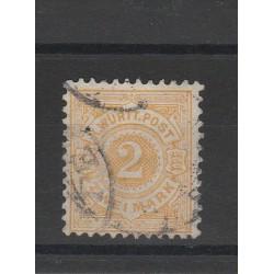 1874 GERMANIA ANTICHI STATI WURTTEMBERG  CIFRA FONDO COLORATO  1 VAL  USATO COME FOTO MF54695