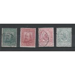 1910 REGNO SERIE  PLEBISCITO SUD ITALIA GARIBALDI 4 VALORI USATI MF54631
