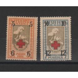1926  ESTONIA EESTI CROCE ROSSA SOPRASTAMPATA 2 V MNH MF54682