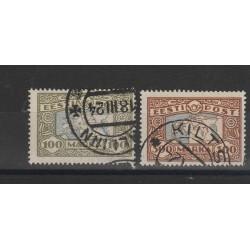 1923-24  ESTONIA EESTI CARTA GEOGRAFICA  2 V  USATI MF54681
