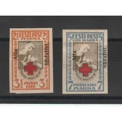 1923 ESTONIA EESTI CROCE ROSSA SOPRASTAMPATA N D  2 V MLH MF54621