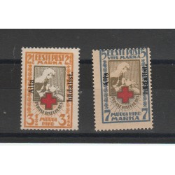 1923 ESTONIA EESTI CROCE ROSSA SOPRASTAMPATA DENTELLATA   2 V MNH MF54619