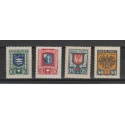 1936 ESTONIA EESTI SERIE STEMMI DI CITTA  4 VALORI NUOVI MNH MF54672