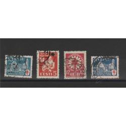 1933 ESTONIA EESTI  OPERE ANTITUBERCOLARI  4 VAL USATI  MF54673