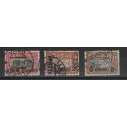 1930  ESTONIA EESTI VEDUTE SOPRASTAMPATE 3  V  USATI   MF54664