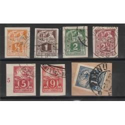 1922-25 ESTONIA EESTI SCRITTA IN ORNATO NUOVI TIPI  57 V  USATI   MF54726