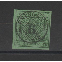 1851 GERMANIA ANTICHI STATI WURTTEMBERG  CIFRA AL CENTRO  N 3 USATO MF54720