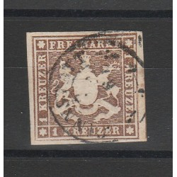 1857 GERMANIA ANTICHI STATI WURTTEMBERG  STEMMA  N 6 USATO MF5472054719