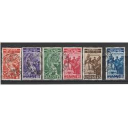 1935 VATICANO VATICAN CITY SERIE CONGRESSO GIURIDICO INTERN 6 VAL USATI MF54731