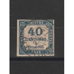 1871 FRANCIA FRANCE  SEGNATASSE CIFRA AL CENTRO USATO  MF54792