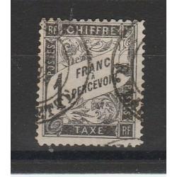 1881 FRANCIA FRANCE  SEGNATASSE YVERT N 22  CIFRA AL CENTRO 1 VAL USATO MF54793