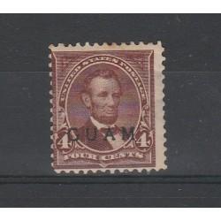1899 STATI UNITI USA SOPRASTAMPA ISOLA DI GUAM 1 VAL USATO MF54798
