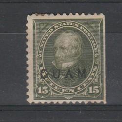 1899 STATI UNITI USA SOPRASTAMPA ISOLA DI GUAM 1 VAL USATO MF54796