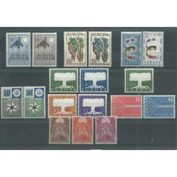 1957 EUROPA UNITA CEPT ANNATA COMPLETA 18 VALORI NUOVI MNH MF18584