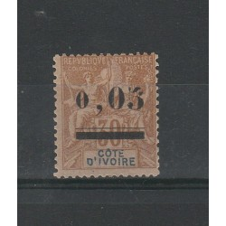 COTE D'IVOIRE COSTA D'AVORIO 1904 COLONIALE SOPRASTAMPATO  1 VAL MLH MF54759
