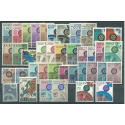 EUROPA CEPT ANNATA  1967 - 39 VAL MNH MF18608
