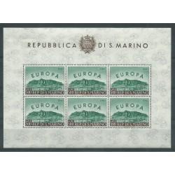 1961 SAN MARINO EUROPA UNITA LIRE 500 FOGLIETTO NUOVO INTEGRO MF0933